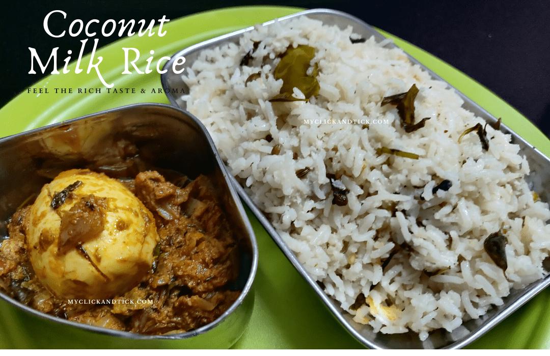 Coconut Milk Rice /Thengai Pal Sadham