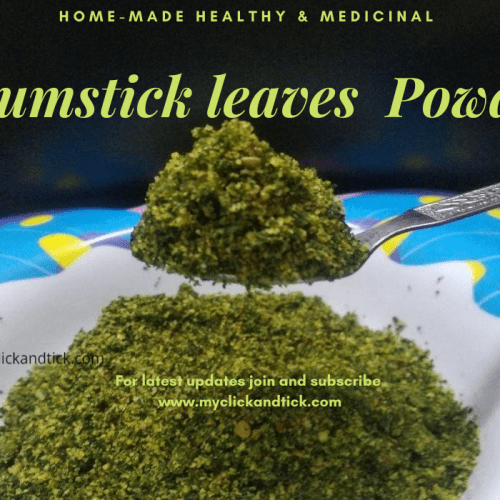 Instant Drumstick leaves powder recipe