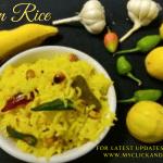 Lemon rice / Elumichai Sadam recipe