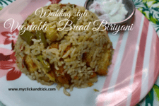Vegetable-Bread Biriyani
